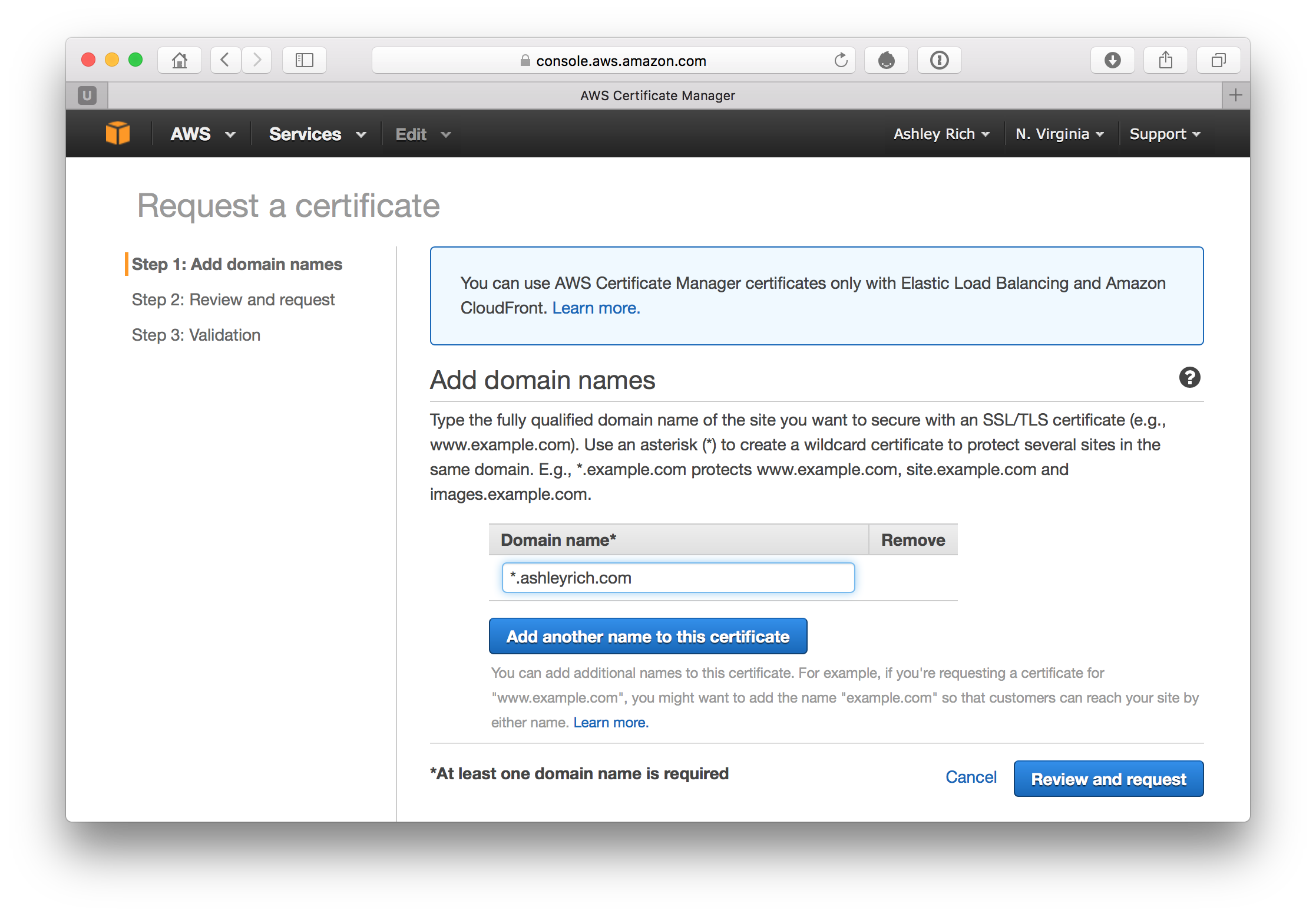Configure a Custom Domain for CloudFront with HTTPS